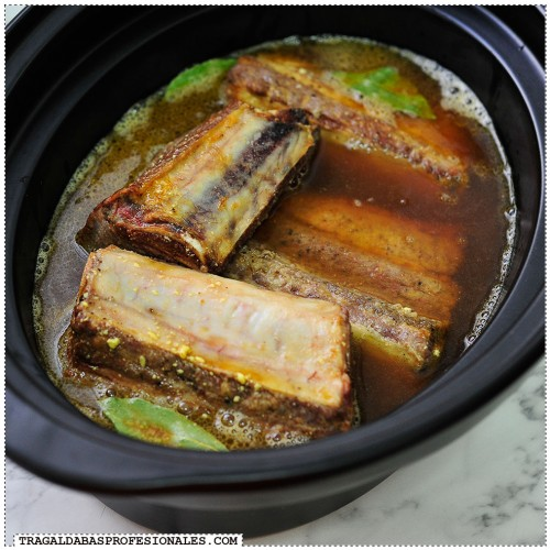 Olla lenta - Crockpot - Slow cooker - Costillas de ternera