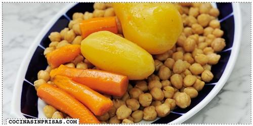 olla lenta  slow cooker crock pot verduras cocido madrileño