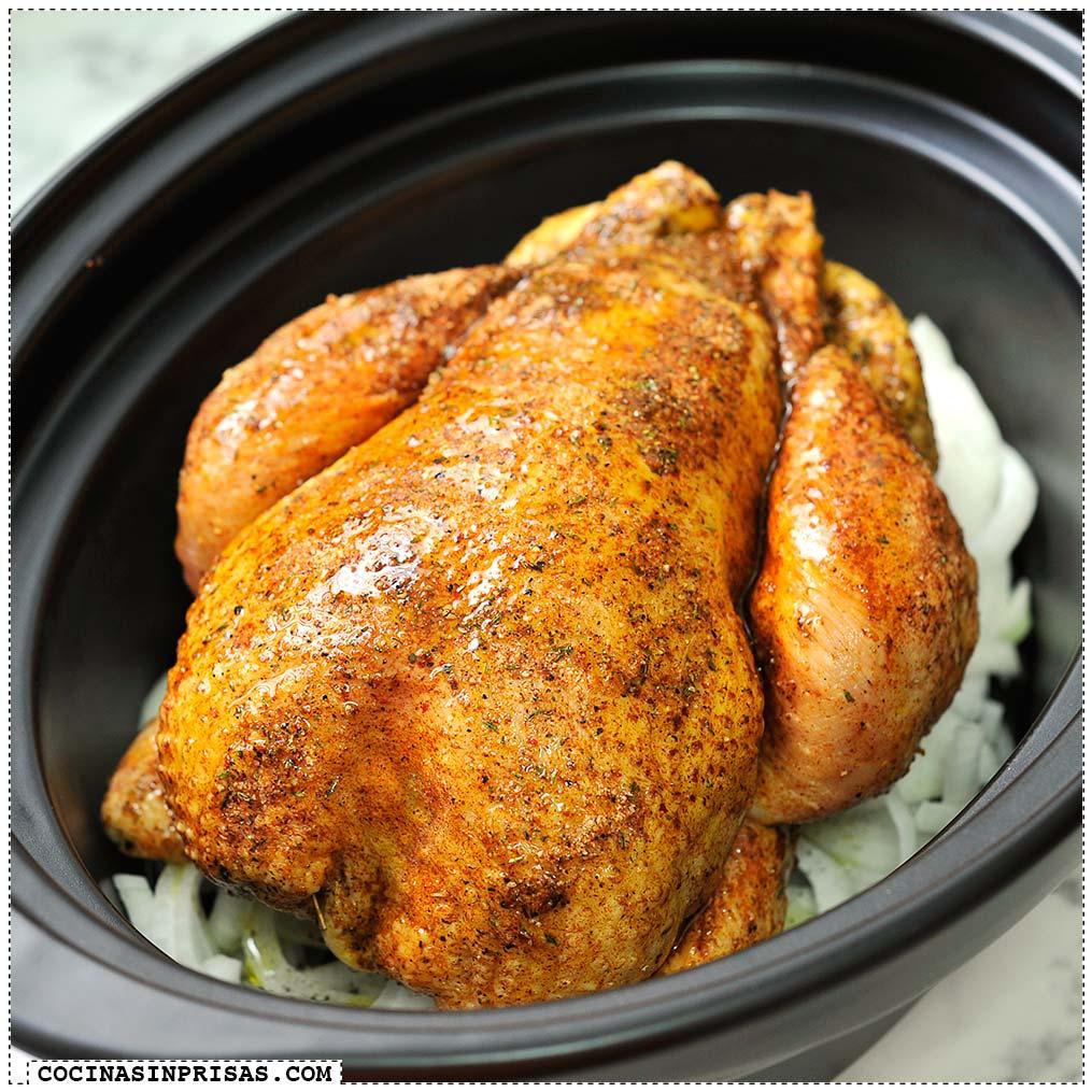 Pollo asado cocina sin prisas for Cocinar un pollo entero