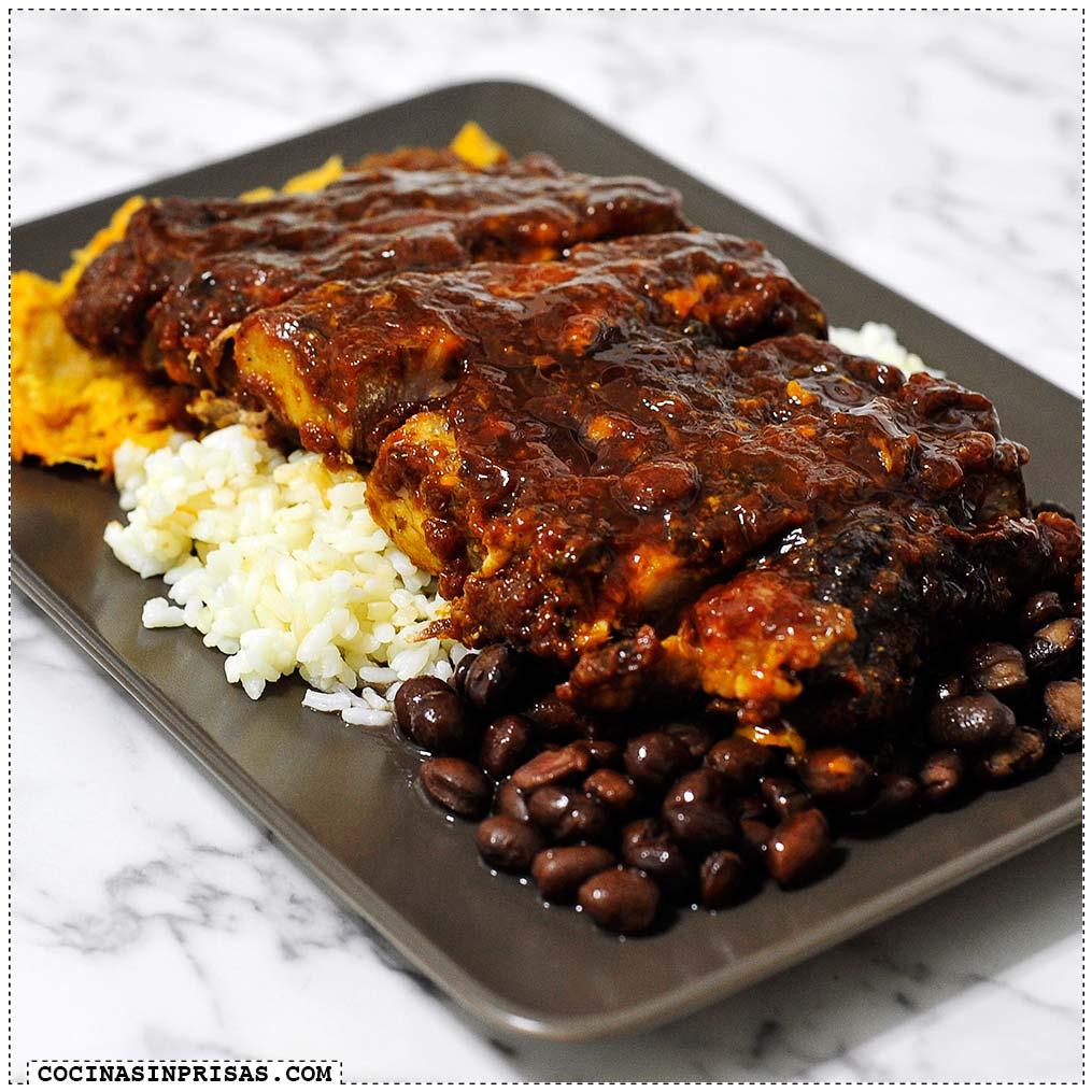 costillas de cerdo con salsa barbacoa cocina sin prisas