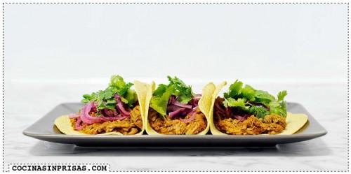 Cocina sin prisas - Slow cooker - Crock Pot - Tragaldabas profesionales - Tacos de cochinita puerco pibil