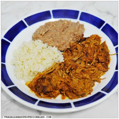 Cocina sin prisas - Slow cooker - Crock Pot - Tragaldabas profesionales - Cochinita puerco pibil arroz frijoles refritos